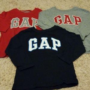 Gap long sleeved shirts (set of 3)